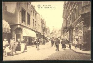 AK Middelburg, Blick in eine Strasse, Une rue