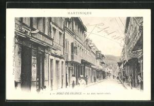 AK Fort-de-France, La Rue Saint-Louis