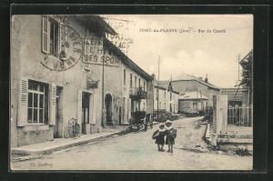 AK Fort-du-Plasne, Rue du Centre, Strassenpartie im Ortskern