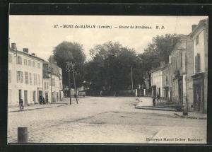 AK Mont-de-Marsan, Route de Bordeaux, Strassenpartie