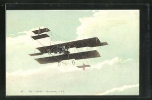 AK The Curtiss Aeroplane, Flugzeug in den Wolken