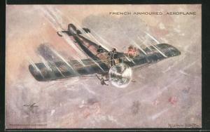 AK French Armoured Aeroplane, Flugzeug im Luftkampf