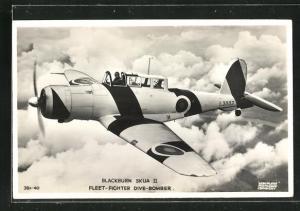AK Blackburn Skua II, Fleet-Fighter Dive-Bomber, Kampfflugzeug über den Wolken