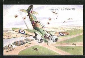 AK Blenheim Fighter-Bomber, Flugzeug im Luftkampf