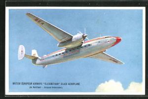 AK Elizabethan Class Aeroplane, British European Airways (de Havilland - Airspeed Ambassador), Flugzeug über den Wolke