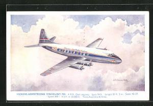AK Flugzeug Vickers-Armstrong Viscount 720, Trans-Australia Airlines, über den Wolken