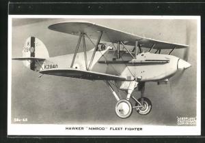 AK Flugzeug Hawker Nimrod Fleet Fighter im Flug über dem Meer