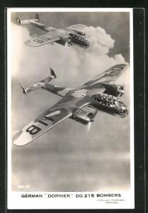 AK German Dornier Do. 215 Bombers