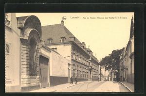 AK Louvain, Rue de Namur, Hospice des Vieillards et Calvaire