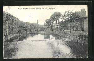 AK Pepinster, La Vesdre, vue du grand pont
