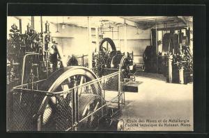AK Mons, Ecole des Mines et de Metallurgie, Faculte technique du Hainaut, Centrale a gaz, 150 HP, vue de ensemble