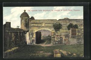 Künstler-AK Porto Bello, old spanish forts by Morgan