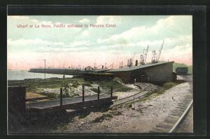 AK La Boca, Wharf, Pacific entrance to Panama Canal