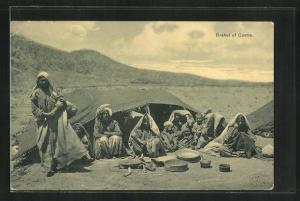 AK Quetta, Brahul, Familie mit Zelt im Gebirge