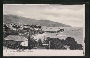 AK Funchal, Panoramablick vom Berg