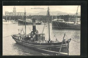 AK Malaga, El Puerto, Boote im Hafen