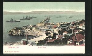 AK Gibraltar, Panorama auf Rosia Bay