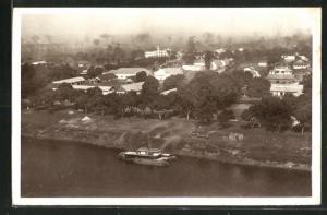 AK Bangui, Ortspartie am Ufer