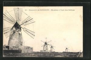 AK Djibouti, Moulins a Vent des Salines, Mühlen