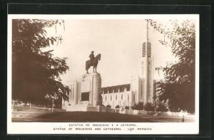 AK Lourenco Marques, Estatua de Mpusinho e a Catedral