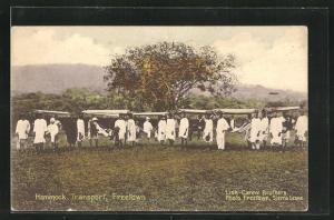 Künstler-AK Freetown, Hammock Transport