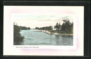 Passepartout-Präge-AK Bermuda, Riddles Bay Warwick