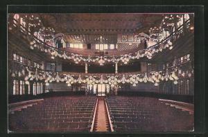 AK Barcelona, Palau de la Musica Catalana, Gran Sala d`Audicions, vist desede l`hemicile dels executants