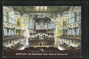 AK Barcelona, 122-Orfeo Catala, Gran Salon de Conciertos