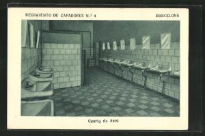 AK Barcelona, Regimiento de Zapadores No. 4, Cuarto de Aseo
