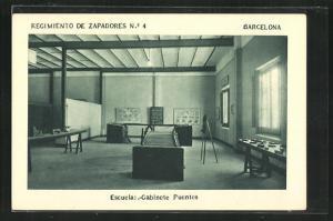 AK Barcelona, Regimiento de Zapadores No. 4, Escuelas-Gabinete Puentes