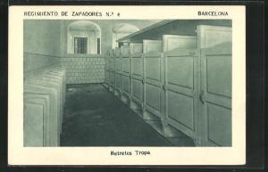 AK Barcelona, Regimiento de Zapadores No. 4, Retretes Tropa