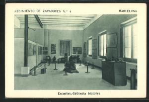 AK Barcelona, Regimiento de Zapadores No. 4, Escuelas-Gabinete Motores
