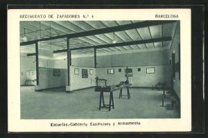 AK Barcelona, Regimiento de Zapadores No. 4, Escuelas-Gabinete Explosivos y Armamento