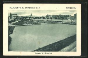 AK Barcelona, Regimiento de Zapadores No. 4, Campo de Deportes