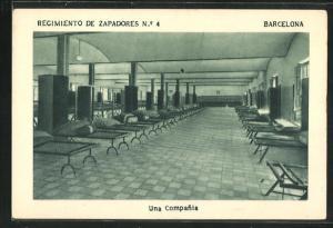 AK Barcelona, Regimiento de Zapadores No. 4, Una Compania