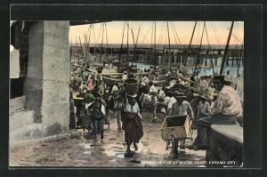 AK Panama City, Market Scene at water front