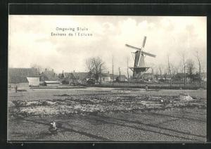 AK Sluis, Ortspartie mit Windmühle