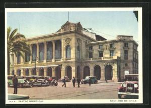 Künstler-AK Santiago de Chile, Teatro Municipal
