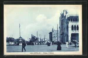 AK Heliopolis, Abbas Avenue mit Passanten