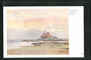 Künstler-AK Amherst, Sea-Coast, Pavillon an der Küste