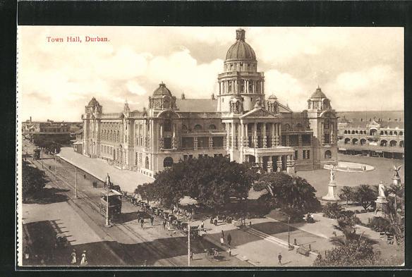 AK Durban, Town Hall and Tramway, Strassenbahn 0