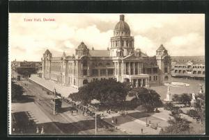 AK Durban, Town Hall and Tramway, Strassenbahn