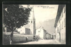 AK Modane, Ville, Entree de Ville cote Lanslebourg