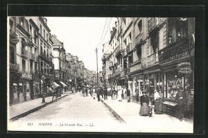 AK Dieppe, La Grande Rue, Strassenpartie