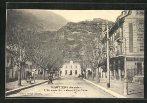 AK Moutiers, L`Avenue de la Gare, La Gare