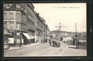 AK Rouen, Le Quai du Havre
