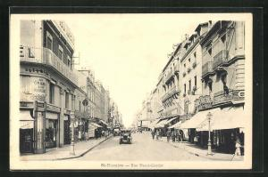 AK St-Nazaire, Rue Henri-Gautier mit Geschäften