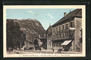 AK Salins-les-Bains, Fort Saint-Andre, Hotel du Balcon et Place Aubarede