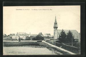 AK Lancieux, Le Bourg, vu de l'Hotel de la Mer