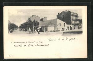 AK Cette, Vue Panoramique de l'Avenue Victor Hugo